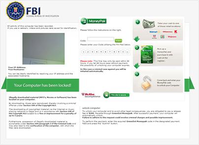 FBI Virus Screenshot